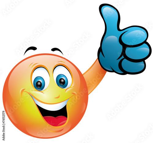 Smiley pouce leve photo libre de droits sur la banque d - Dessin avec emoticone ...
