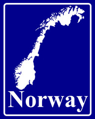 silhouette map of Norway
