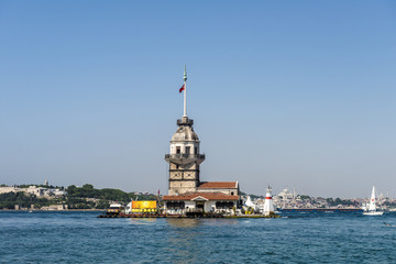 View of the quays of old Istanbul from the sea
