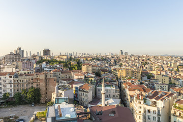 evening panorama of Istanbul
