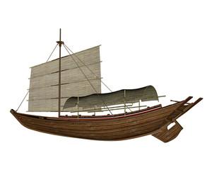 Sampan boat - 3D render