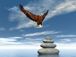 Peaceful eagle - 3D render