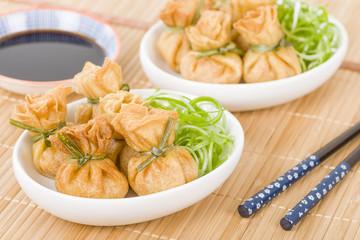 Wonton - Oriental deep fried wontons filled with vegetables.