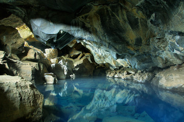 Grjotagja cave in Iceland Wall mural