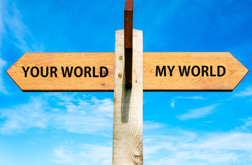 Your World and My World, Separation conceptual image