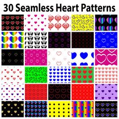 30 Star Seamless Heart Patterns
