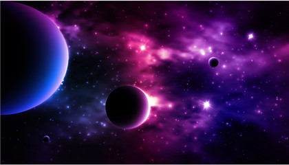 Photorealistic Galaxy background.