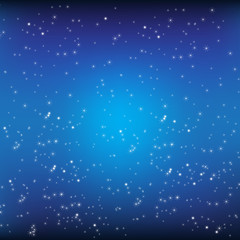 Blue background and stars vector