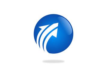 globe arrow vector logo