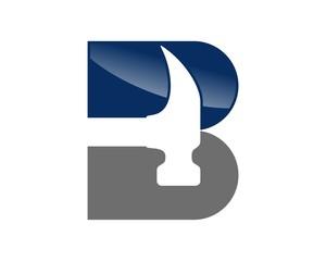 B Letter - Hammer Logo
