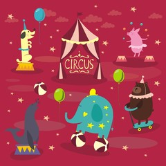 Vintage circus animals