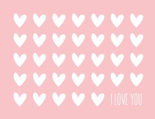 Hearts Valentine Background