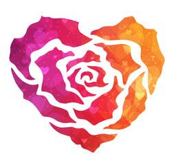 Rose ornamental heart