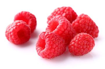 Ripe raspberry in closeup