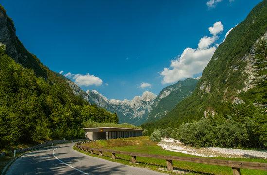 Road to mountain pass Vrsic, Slovenia