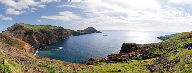 Panorama of the east coast of Madeira