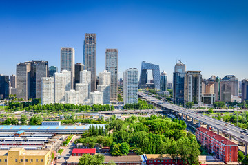 Wall Murals Beijing Beijing China FInancial District Skyline