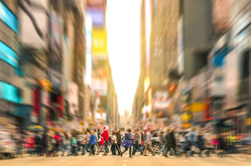 People walking on the street of Manhattan - New York City