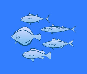 Icons of Sea Fish