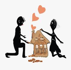 Couple Building House