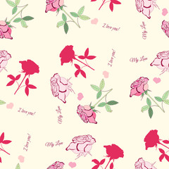Seamless pattern with pink rose1_6