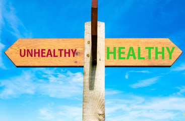 Healthy versus Unhealthy messages