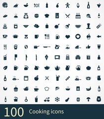 100 cooking icons