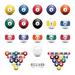 Complete set of billiard balls