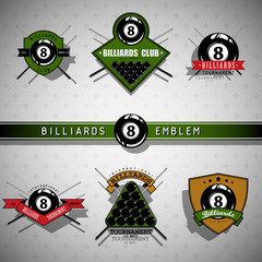 Billiards emblems - color
