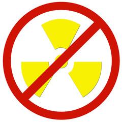 no radioactivity sign board