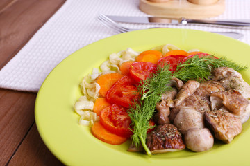 Braised wild mushrooms with vegetables and spices