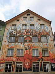 Fairy mural painting, Lucerne, Switzerland