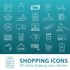 shopping outline icons