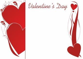 Fototapeta Walentynkowa kartka z dekoracjami obraz