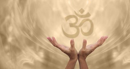 Beautiful Golden Om Symbol
