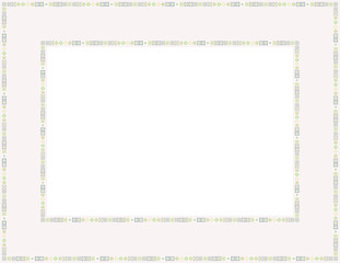 Beaded frame-Beaded patterned frame with mosaic border which can be used for baby showers, Easter, Christmas invites, Valentines invite or other occasions