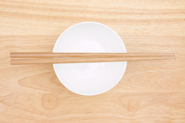 Chopsticks and bowl