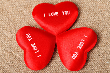 I LOVE YOU Valentine's Hearts