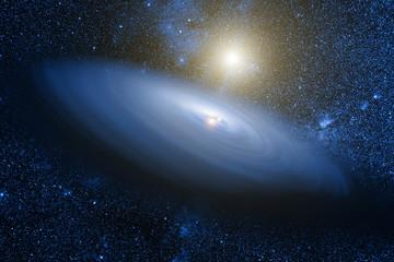 Quasar galaxy in deep universe.