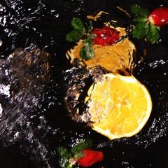 Obst / Wasser  / Stillleben