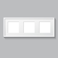 3D picture frame design for image or text. Triptych.