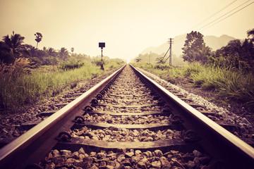 Autocollant pour porte Voies ferrées vintage railroad