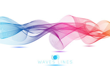 abstract blend waves colorful gradient light  lines bright