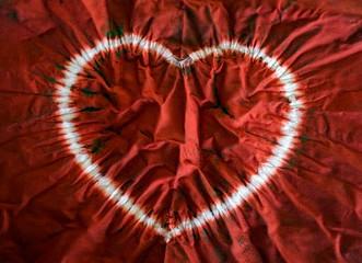 Heart tie dye. Fabric background