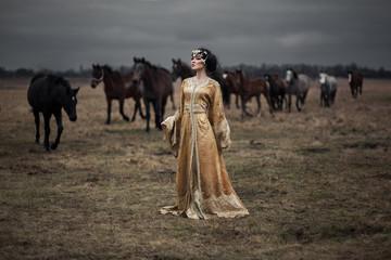 girl wirh horses