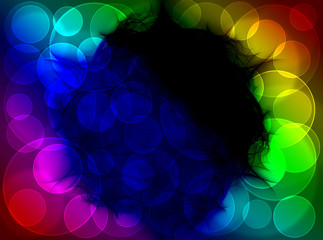 Shiny colorful fractal mandala, digital artwork