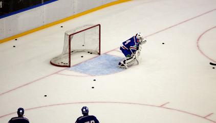 hockey goals, coaching the goalkeeper,