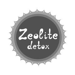 Zeolite detox vector illustration