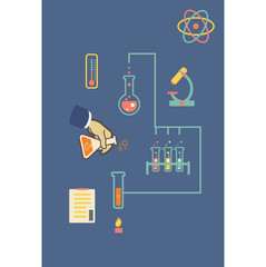 Chemistry infographic  illustration, infographics template for