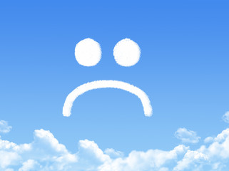 sad from cloud in the blue sky